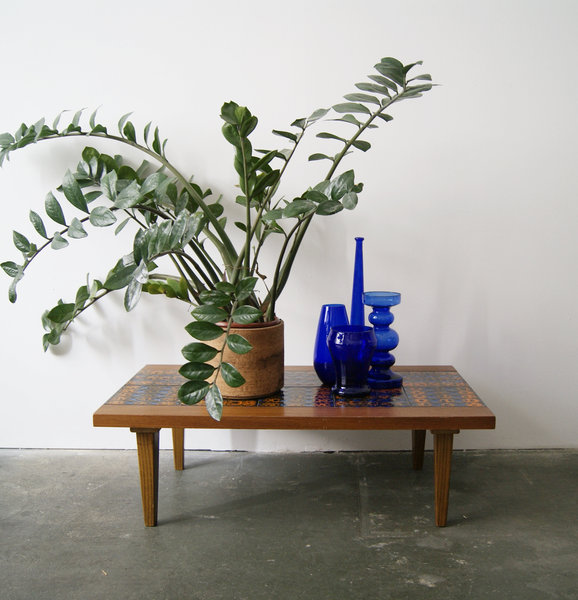 Fine Flower Bench Mid Century Side Table Coffee Table Plant Stand Gmtry Best Dining Table And Chair Ideas Images Gmtryco