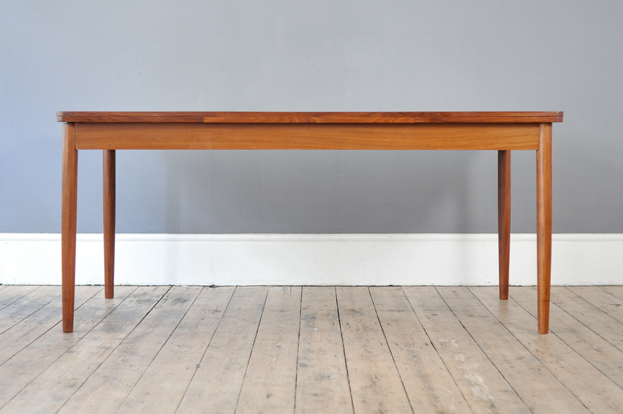 Mid Century Long Extendable Dining Table