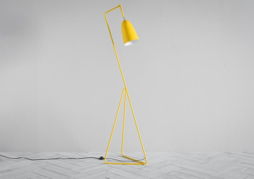 Lilo Triangular Floor Lamp In Yellow