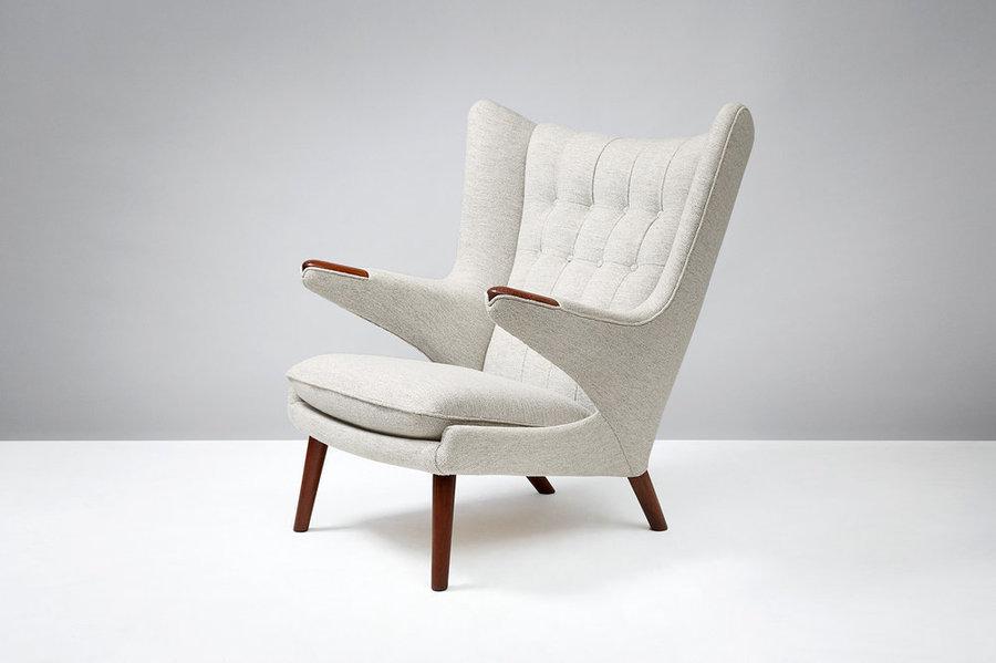Hans Wegner Ap 19 Teak Papa Bear Chair