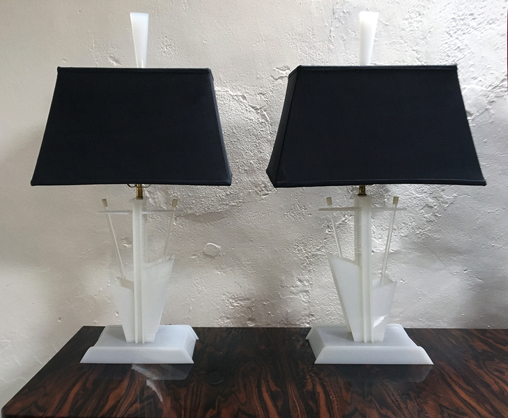 1950s American Modernist Lamps By Moss