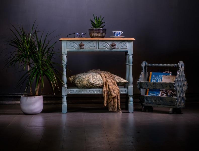 Blue Tone Console Table