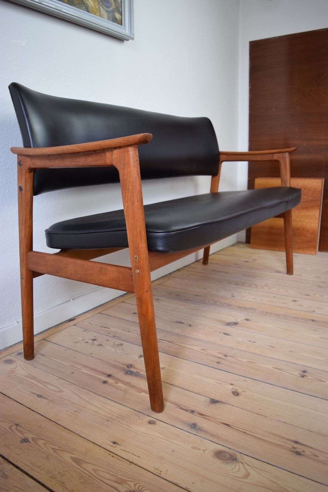 Image of: Danish Mid Century Teak Bench Seat Vinterior