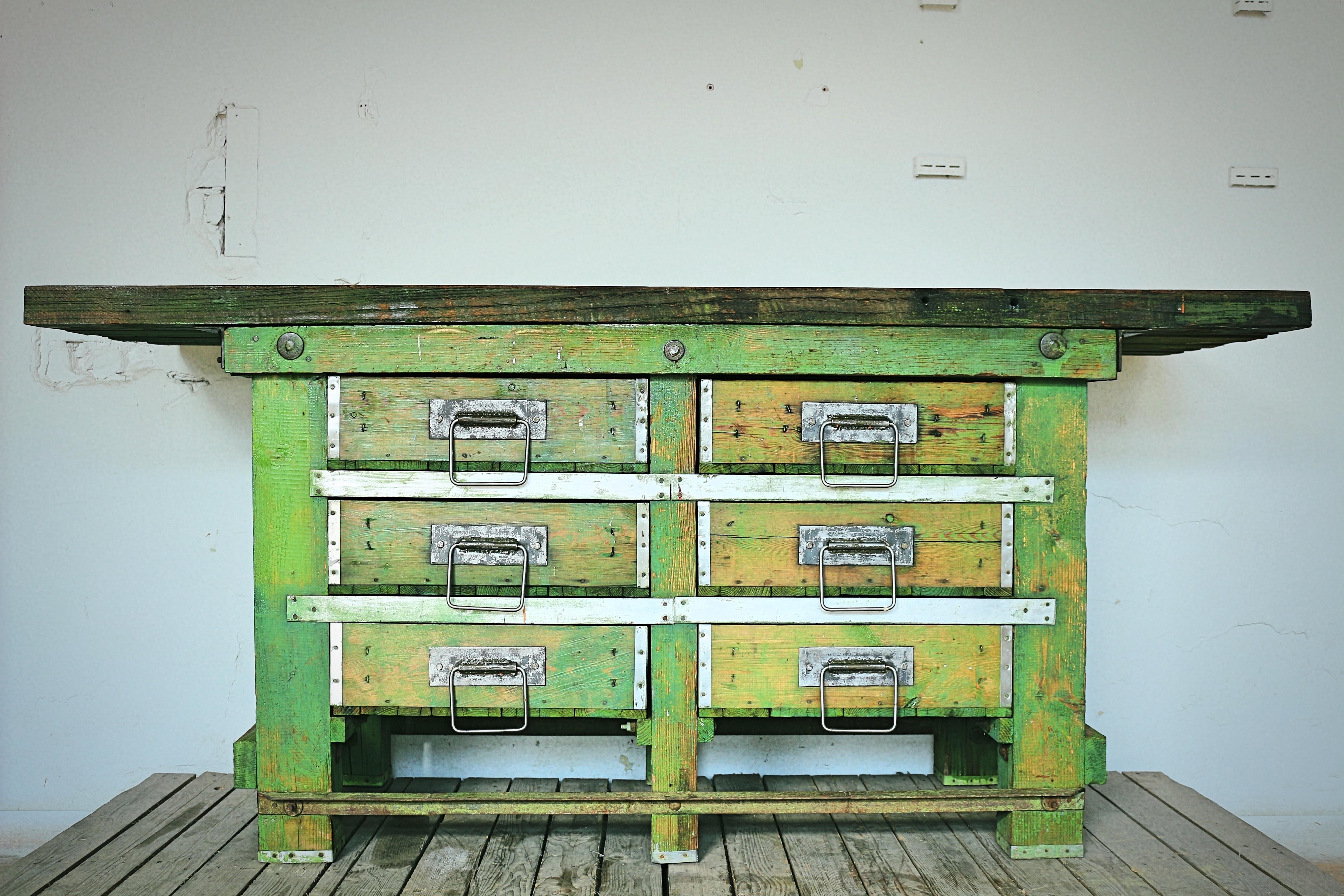 Sensational Vintage Industrial 1950S Solid Wood Workbench Work Desk Kitchen Island Table Bench Machost Co Dining Chair Design Ideas Machostcouk