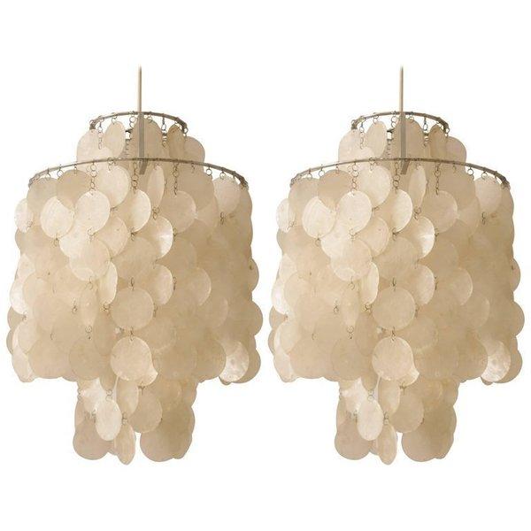 Pair Of Fun 2 Dm Ceiling Lamp By Verner Panton
