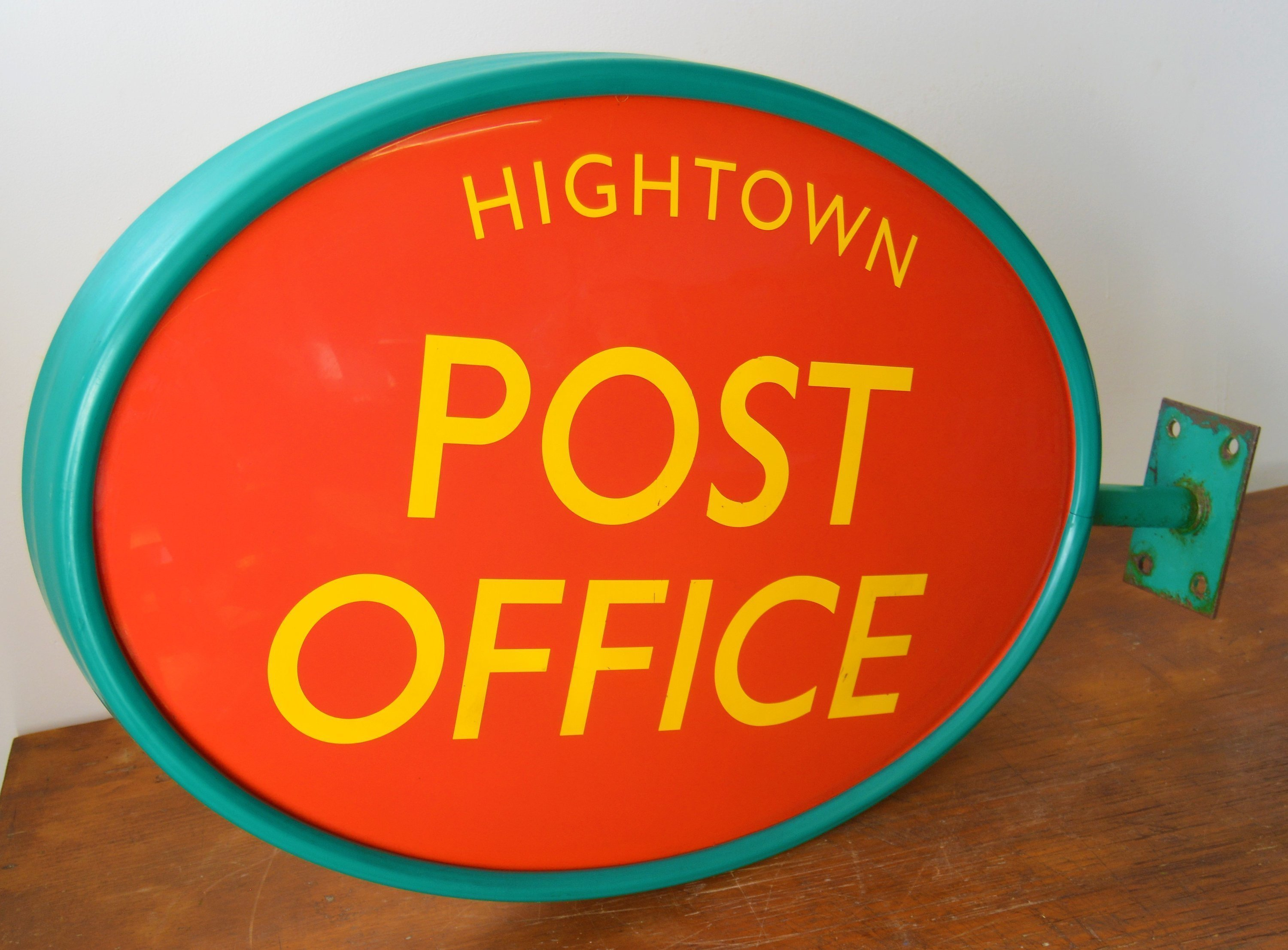 Old original Post Office double sided plastic sign vintage antique industrial