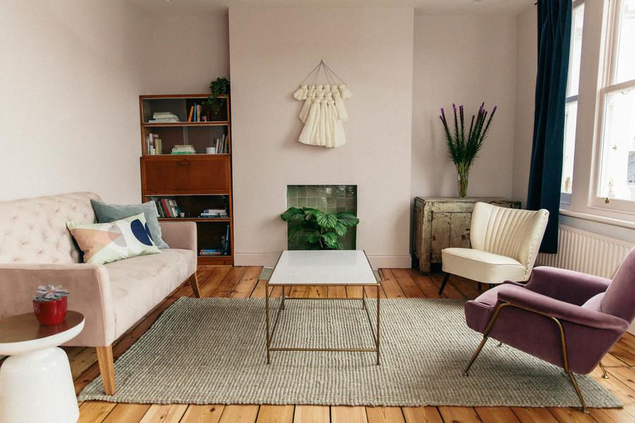 Pink 2 Seater Velvet Sofa