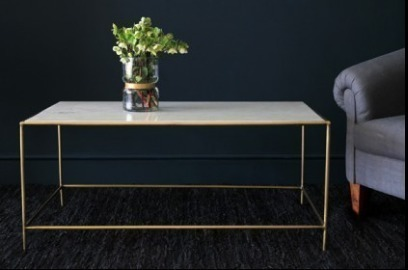 Marble And Brass Effect Coffee Table