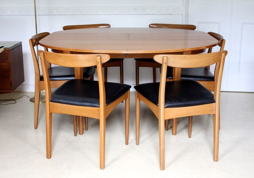 Pleasing Retro Vintage Dining Table And Chairs Teak 6 Dining Chairs Greaves Thomas 1970S Cjindustries Chair Design For Home Cjindustriesco