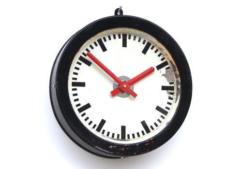 1960s East German Vintage Industrial Clock. Fully Guaranteed.
