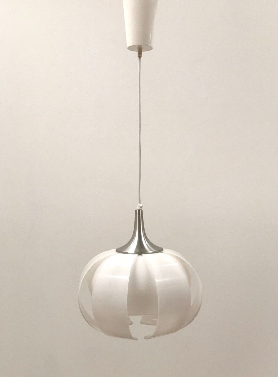 60s 70s Stylsh Funky Vintage Retro Danish Style Onion Shape Perspex Ceiling Lamp