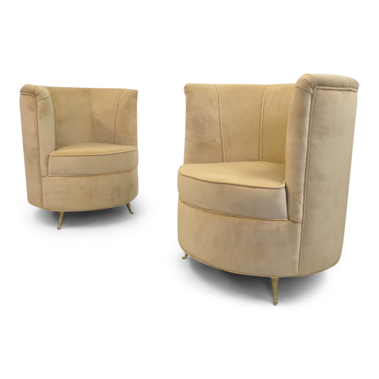 Admirable A Pair Of 1970S Style Italian Cocktail Chairs With Brass Legs Download Free Architecture Designs Rallybritishbridgeorg