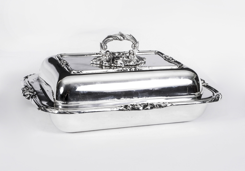 Antique Victorian Silver Plated Entree Dish Mappin C.1845