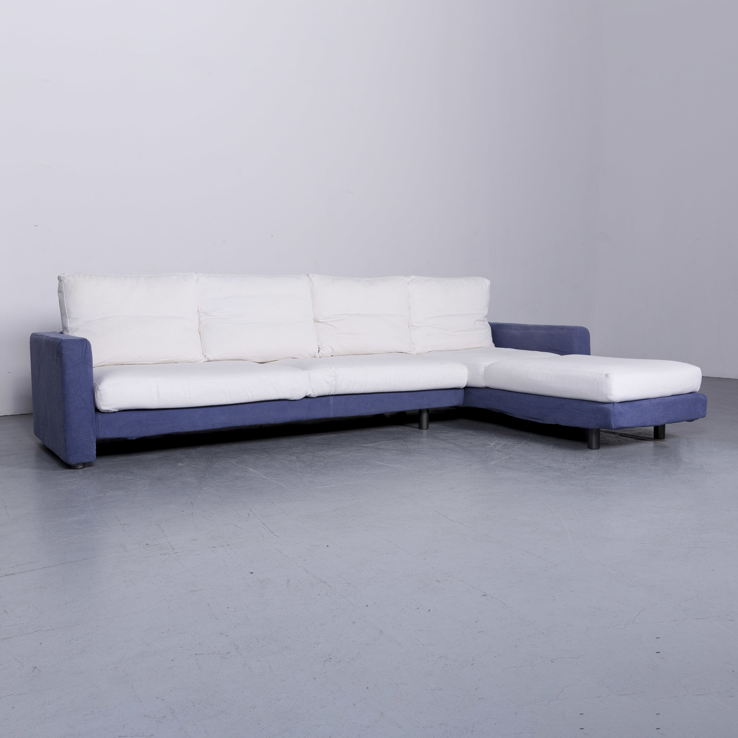 Peachy Dema Designer Fabric Sofa Blue White Corner Sofa Couch 6572 Gamerscity Chair Design For Home Gamerscityorg