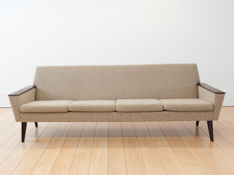 1960 S Norwegian 4 Seater Cream Wool Sofa