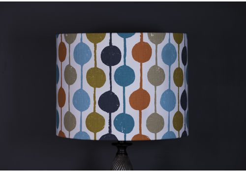 Lampshade, Pendant Shade, Standard Lamp, Taimi, Scion, 40x30, Multi Coloured, Modern, Geometric, Decor, Large, Drum Shade, Fabric, Vibrant.