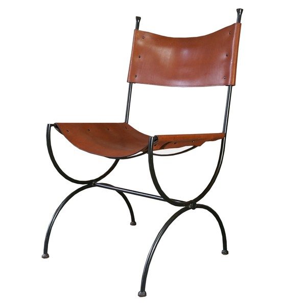 Charleston Forge Saddle Leather Embassy Chair Ch6 Hand Made