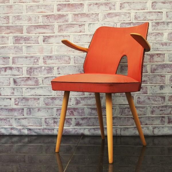 1950s Striped Vinyl Armchair
