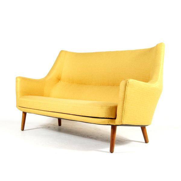 Retro Vintage Teak Danish Love Seat 2 Seater Sofa