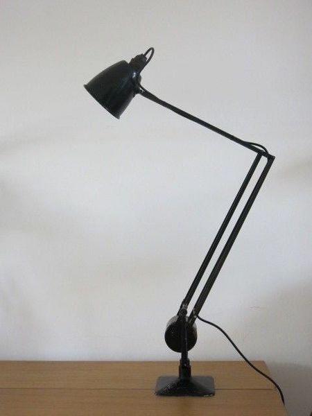 Vintage Industrial Black Hadrill & Horstmann Roller Counter Balanced Desk Lamp
