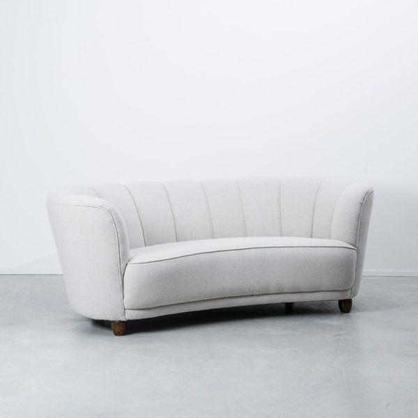 Curved Danish Sofa photo 1