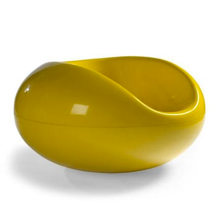 Original Yellow Pastil / Pastille Chair By Eero Aarnio, C.1967