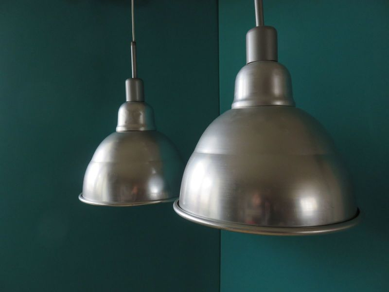 French Pendant Lights 1950s Set Of 2