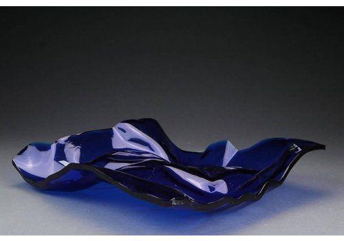 Blue Acrylic Fruit Bowl By Verner Panton For Dansk Acryl Technik