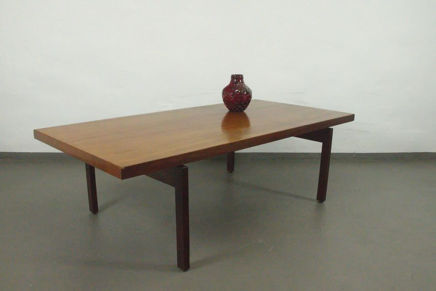 teak coffee table with floating table top from asko 1960s