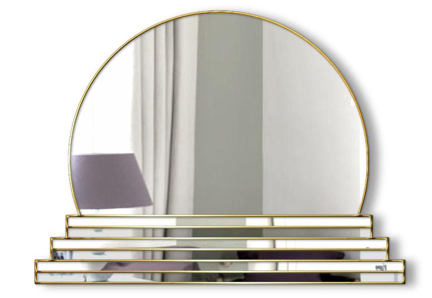 Art Deco Original Handcrafted Over Mantle Wall Mirror Sol In Gold Phillip Orr Vinterior