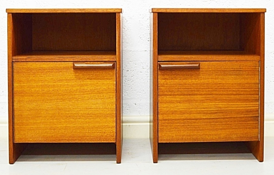 Mid Century Bedside Cabinets By Avalon photo 1