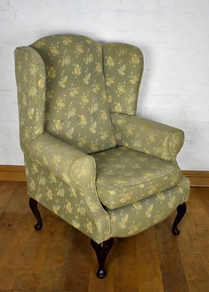 Antique Style Vintage Wing Back Arm Chair Wingback Armchair Vinterior