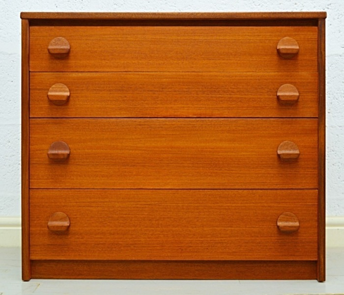 Mid Century Teak Chest Of Drawers By Stag