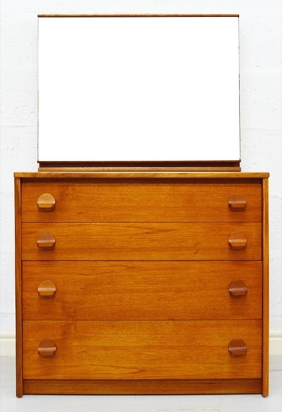 Mid Century Teak Dressing Table/Chest Of Drawers By Stag