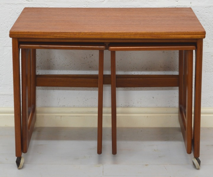 Mid Century Triform Nest Of Tables/Card Table By Mc Intosh photo 1