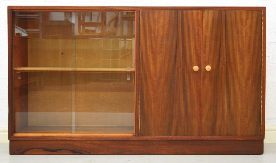 Mid Century Walnut Display/Bookcase By Morris Of Glasgow photo 1