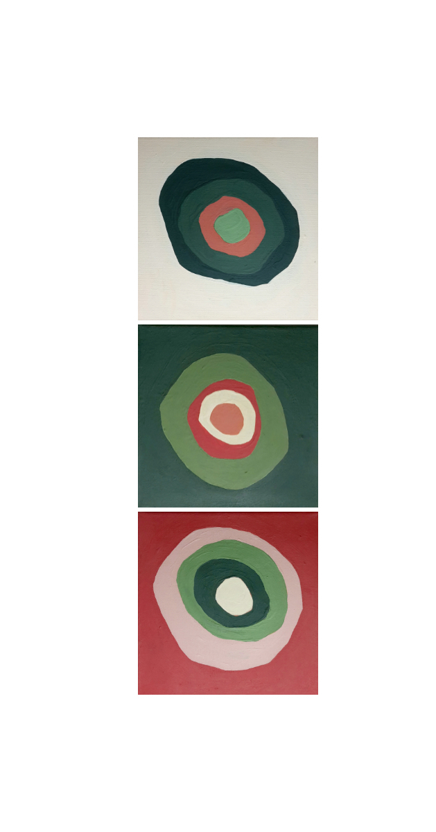 Circles On Squares Pop Art Abstract Painting