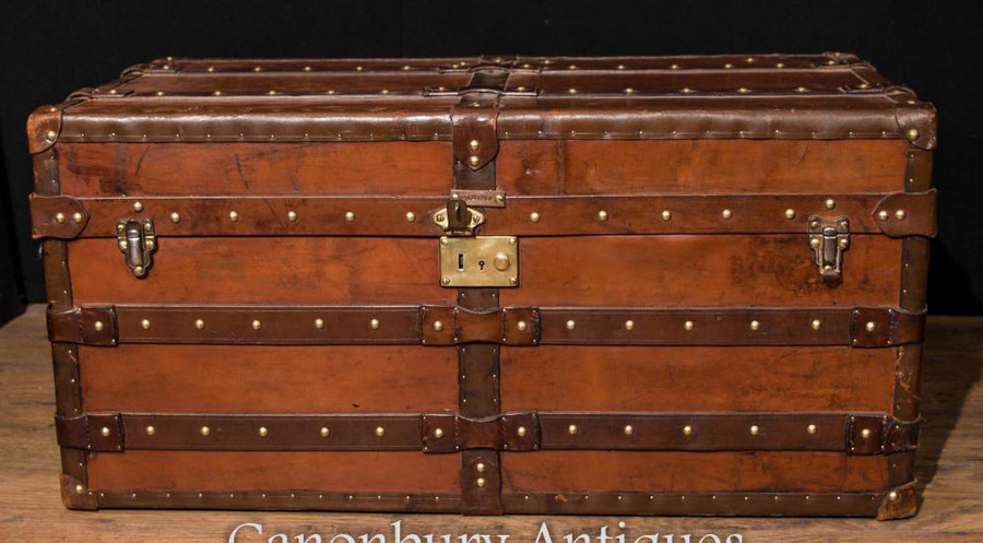 Luggage Case Steamer Trunk Table Cheney