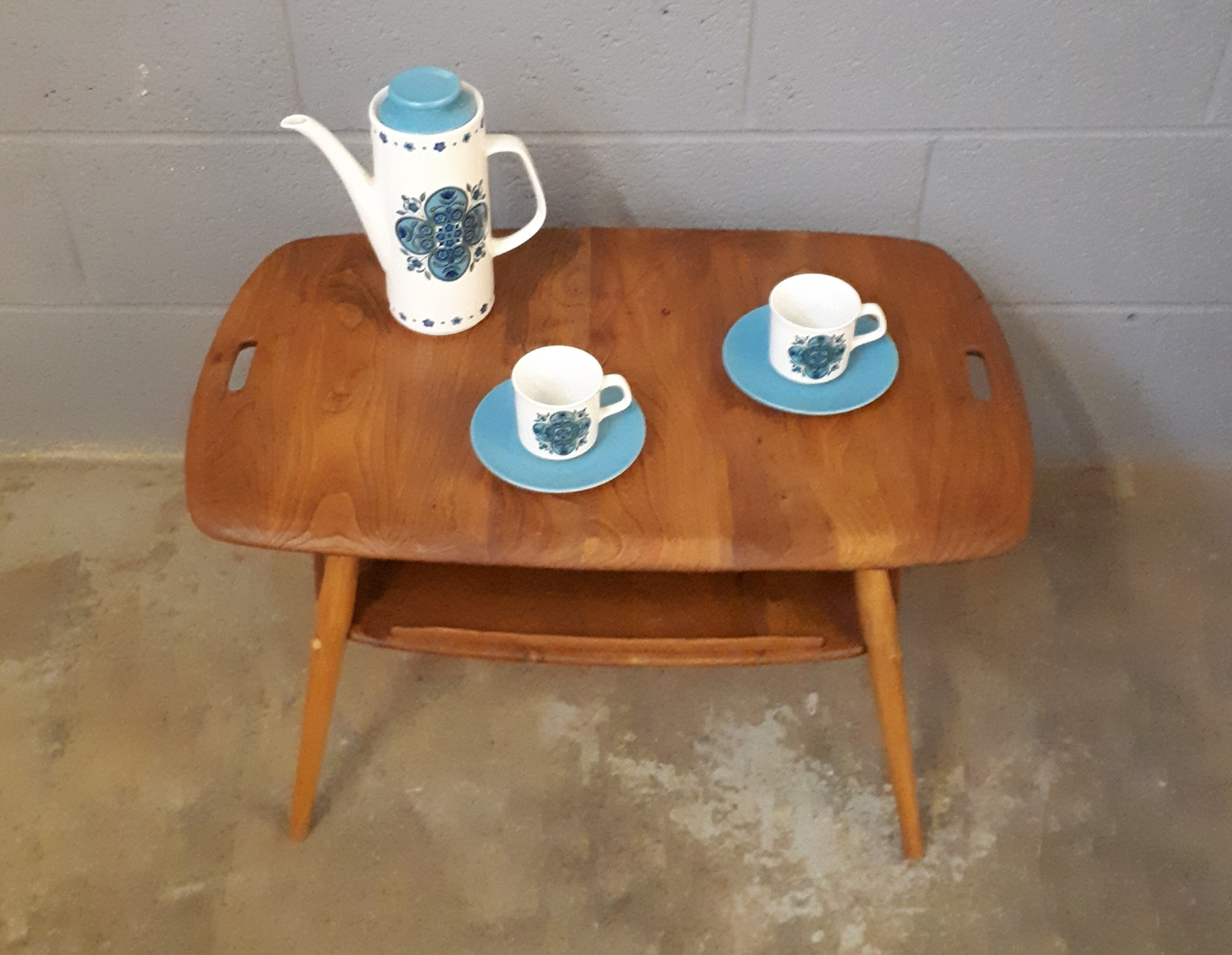 Astounding An Ercol Butlers Tray Coffee Table Mid Century Vintage Retro Gamerscity Chair Design For Home Gamerscityorg