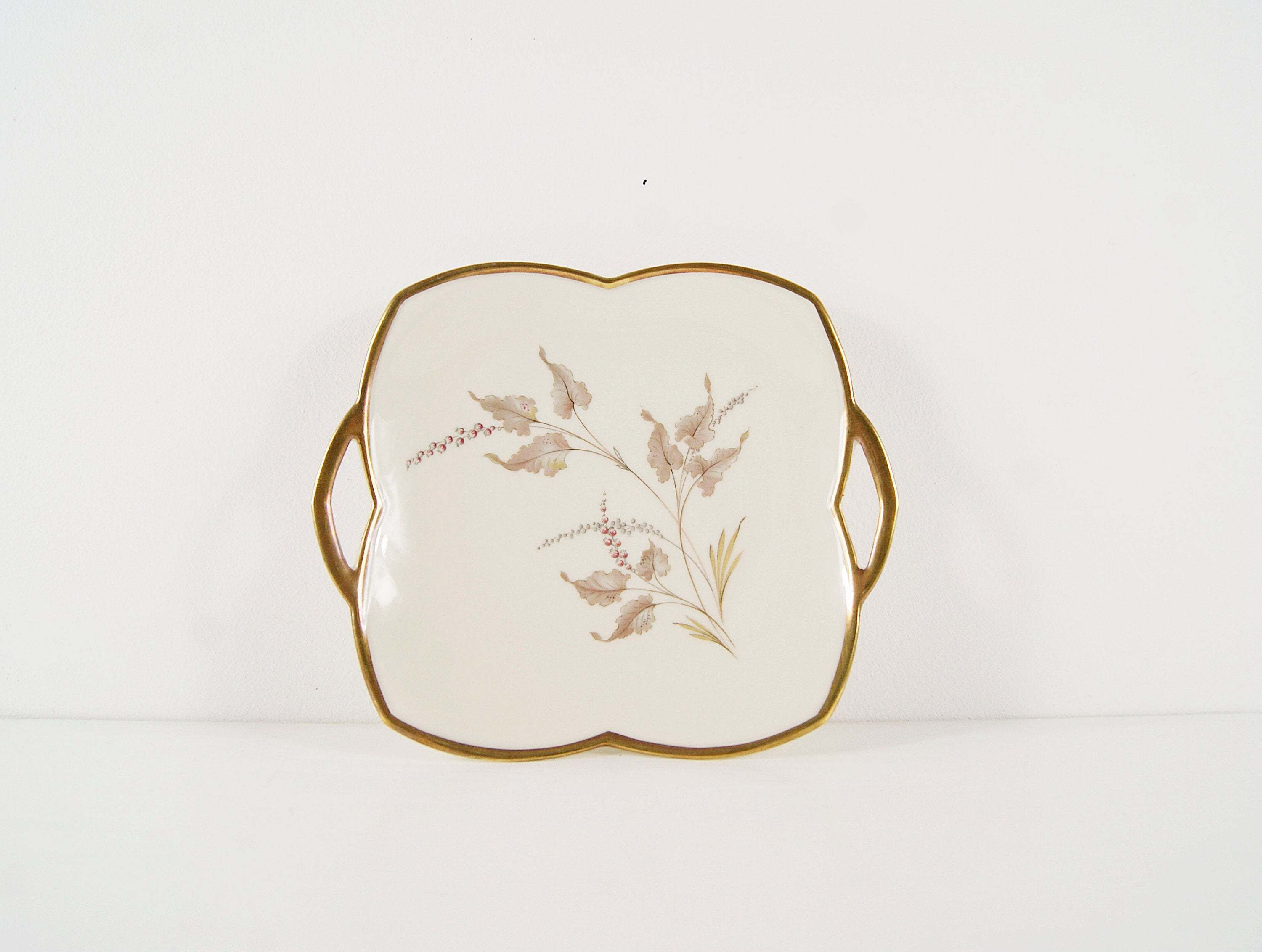 55dfb241894c Alka Art Plate Silvana With Floral Décor, 1960s Porcelain, Serving Bowl,  Collection Plate, Wall Plate, Cake Plate