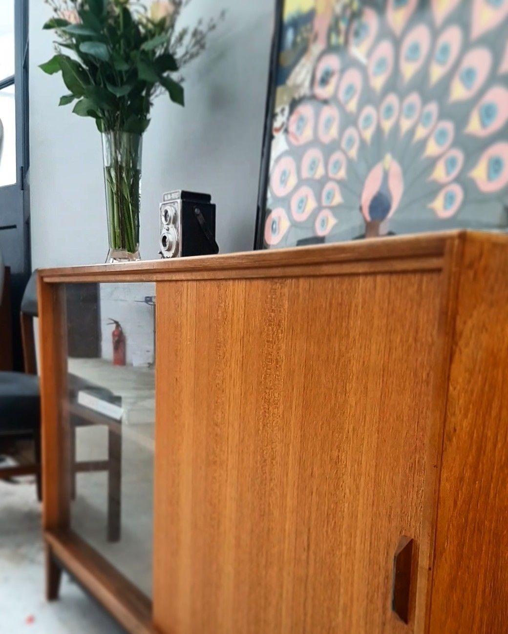Gibbs Teak Low Bookcase Display Cabinet Danish Style Mid Century