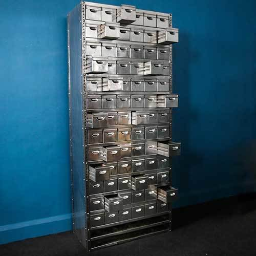 Tall Vintage Steel Storage Unit