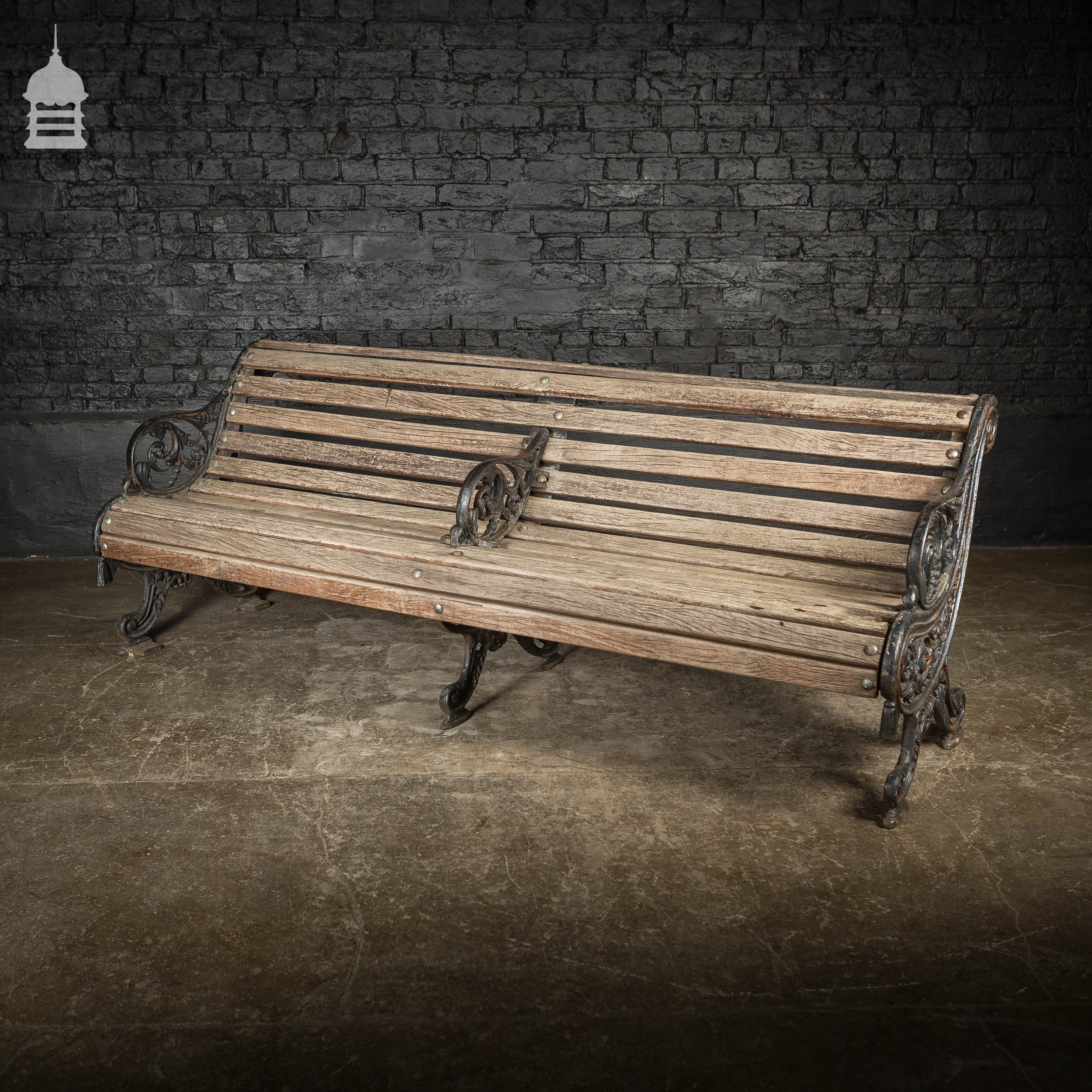 Picture of: Ornate Victorian Cast Iron Garden Bench With Hardwood Slats Vinterior