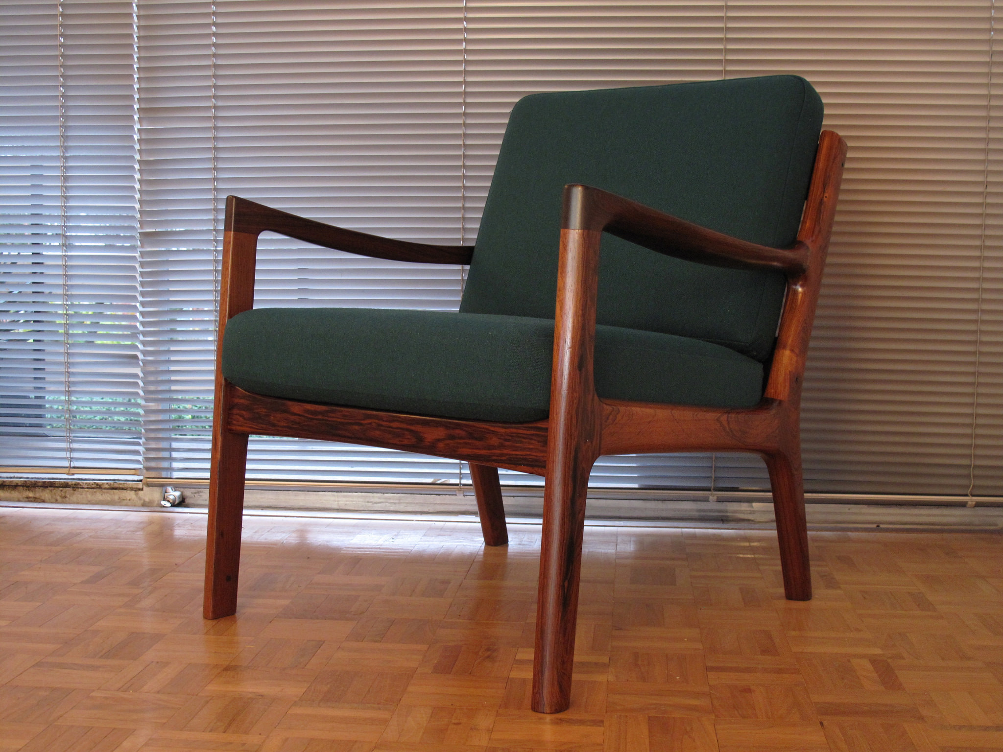 Fabulous Ole Wanscher Rosewood Senator Chair With Brand New Old Stock Cushions Gmtry Best Dining Table And Chair Ideas Images Gmtryco