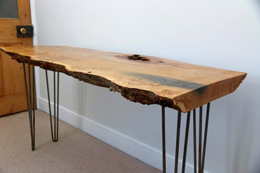 large pippy oak slab live edge desk 0