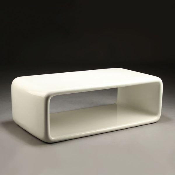 White Fibreglass Coffee Table