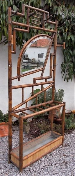 Antique Victorian Hall Stand 19th Century Bamboo Coat Rack ,Umbrella Stand, Stick Stand