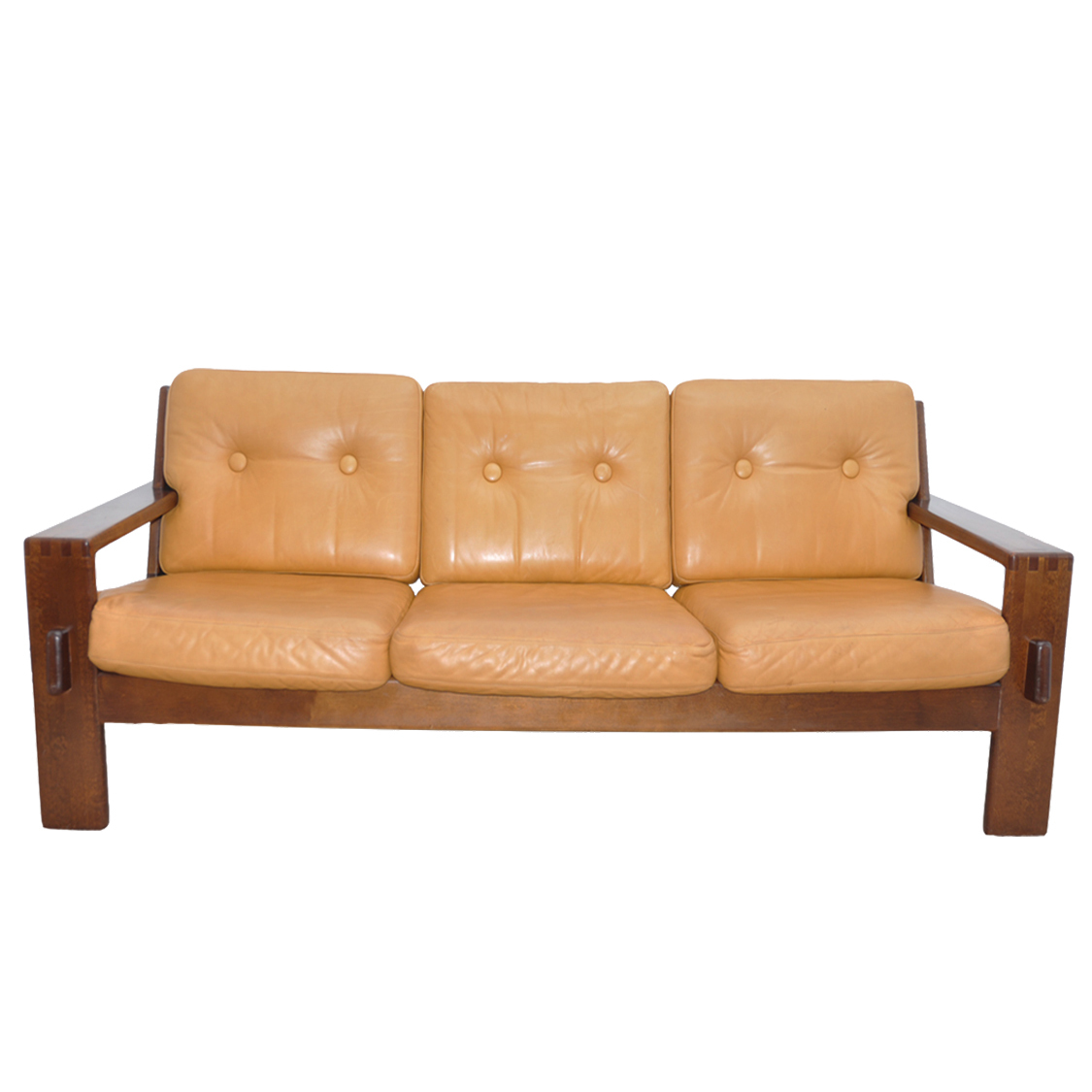 Bonanza Tan Leather Sofa By Esko
