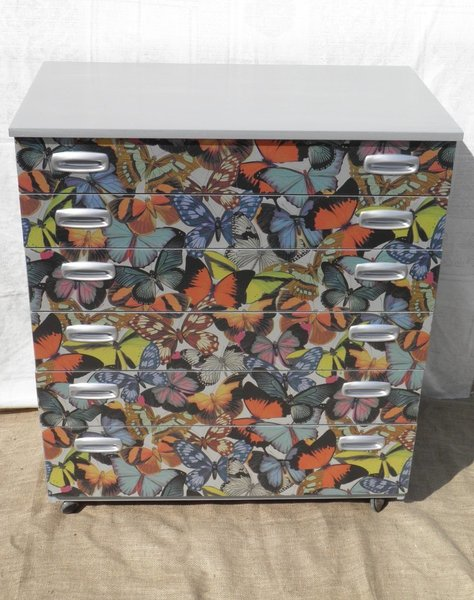 Upcycled Vintage Retro Schreiber Chest Of Drawers photo 1