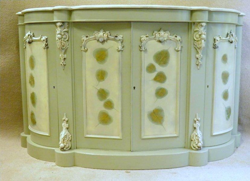 Decorative Painted Victorian Sideboard